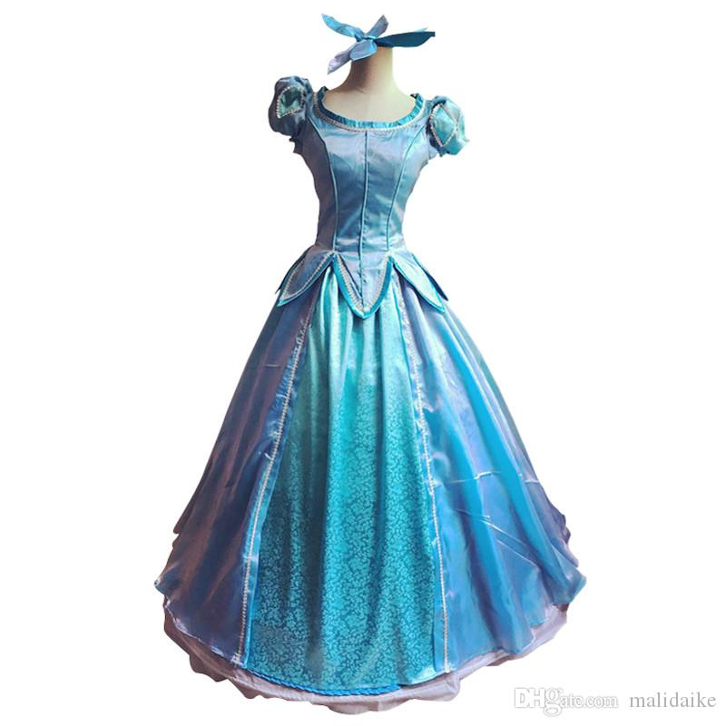 60db8ea4478b4 Malidaike Anime Little Mermaid Princess Aili Er Princess Skirt Performance Cosplay  Clothing Female Costume Holloween Costumes Girl Costumes From Malidaike, ...