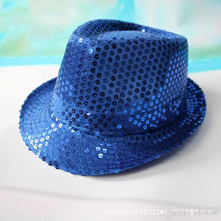 girls boys bling hats hot baby kids cotton Jazz Cool Cap Photography Top summer sun sequin Hat Trilby Floppy Hat for 2-8T