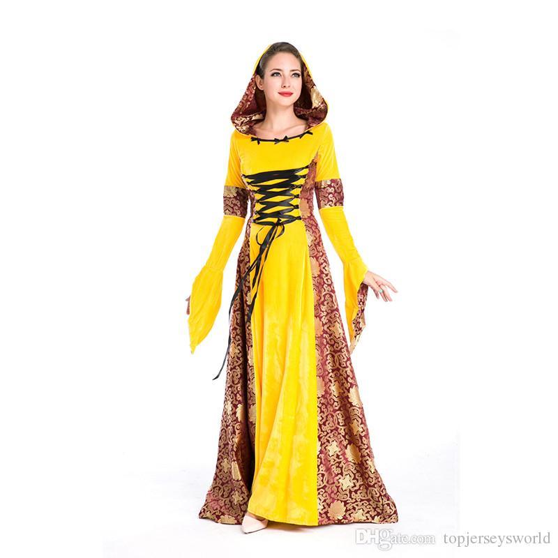 Medieval European Women Vintage Court Queen Dress Cosplay ...