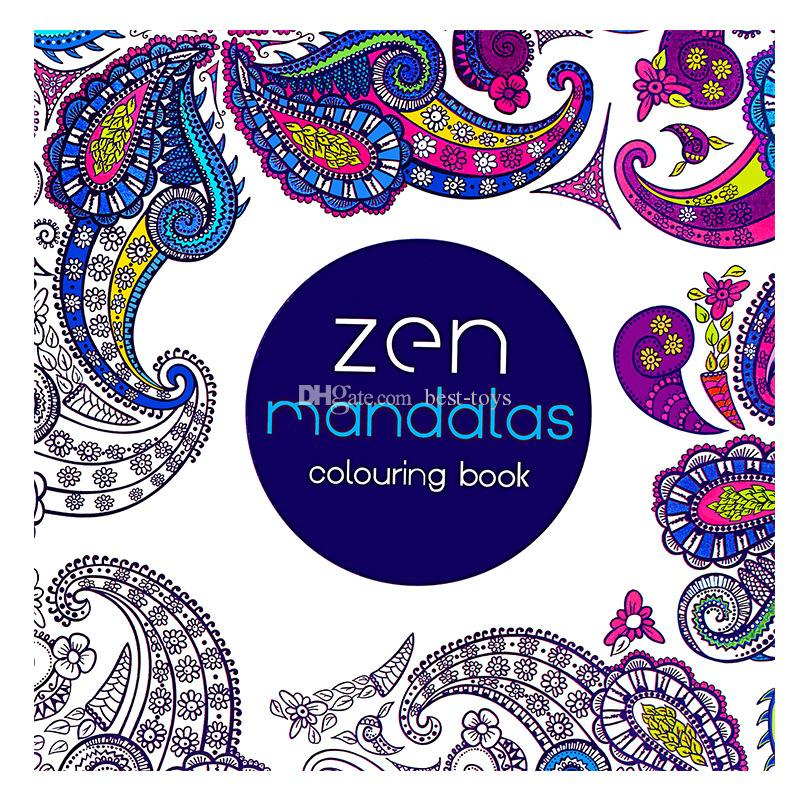 Secret Garden English Hand Painted Color In Coloring Book Mandala Lost Ocean Wonderland Explore Painting This Time Travel Colouring Books For Children Kids