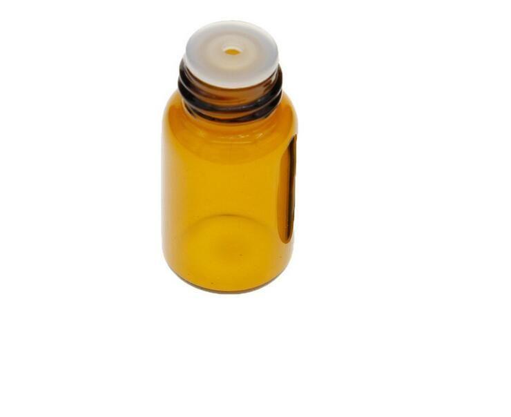 1 مل الزجاج الفارغة العنبر لفة الكرة زجاجة الجرار قوارير مع غطاء لمستحضرات التجميل العطور زجاجات الزيت العطري
