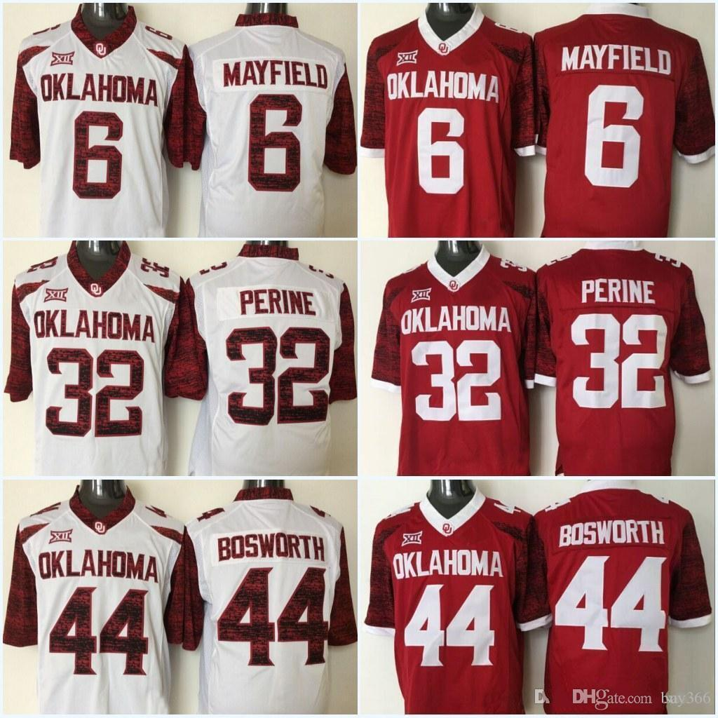 2019 New Oklahoma Sooners 6 Baker Mayfield Stitched Jersey 44 Brian  Bosworth 28 Adrian Peterson 14 Sam Bradford College Football Jerseys From  Buy366 c4a799690