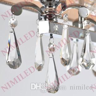 nimi735 L80 * W22 * H36cm Moderno comedor Cristal Rectangular Colgante Gris claro Tela Pantalla Pantalla Kicthen Sala de estar Araña Iluminación
