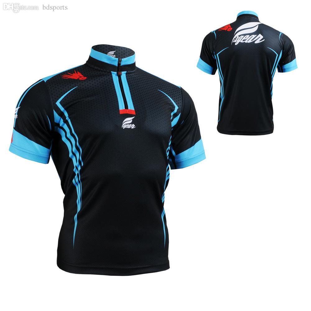 9fc70fce4 Wholesale-Men s Tennis T-Shirt Short Sleeves Mandarin Collar Quick ...
