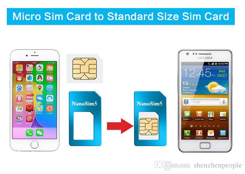 Metal de alumínio 5 em 1 nano sim card para micro sim card padrão adaptador conversor ejetar pin set para iphone 5 6 6 plus galaxy s5 s6 edge