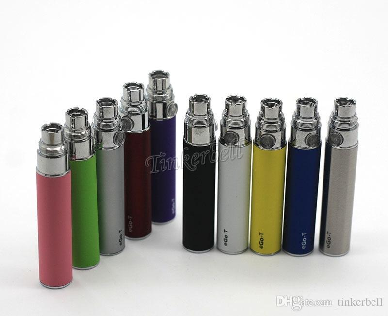 Em estoque!! Baterias eGo-T para cigarro eletrônico para 510 Thread mt3 CE4 CE5 CE6 mini protank 650/900/1100 mAh de várias cores