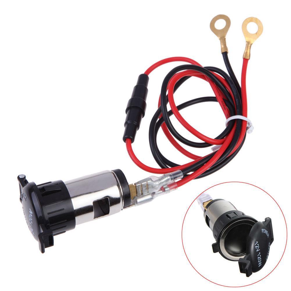 12V 120W Car Motorcycle Boat Tractor Cigarette Lighter Power Socket Outlet Plug