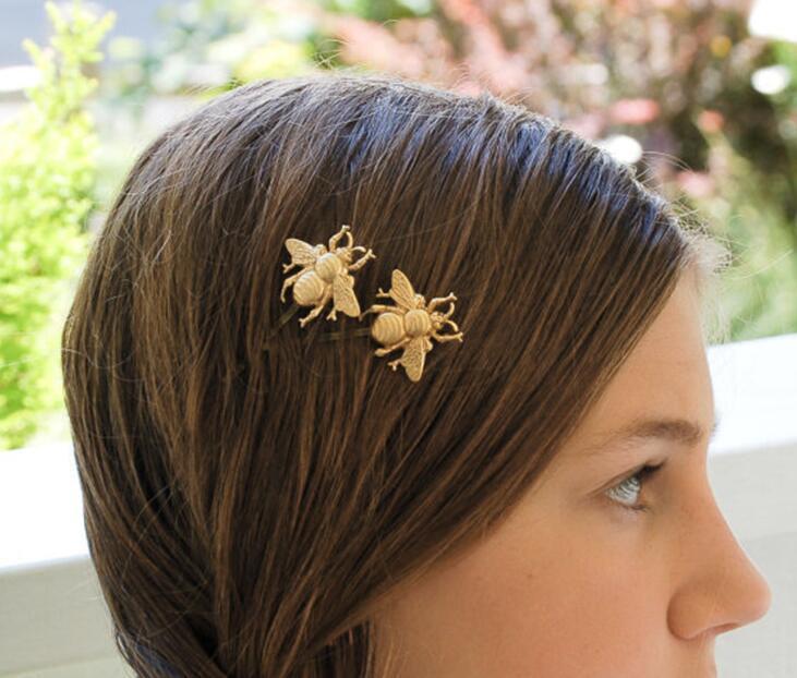 Belle clips cheveux abeille mignonne plaqué or d'argent hairclips Pins cheveux Mode Femmes Filles Party Accessoires Bijoux cheveux