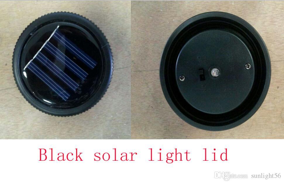 DHL, UPS Silber und Schwarz Solarbetriebene Einmachdeckel aus Kunststoff leuchten mit Einmachglas kein Glas