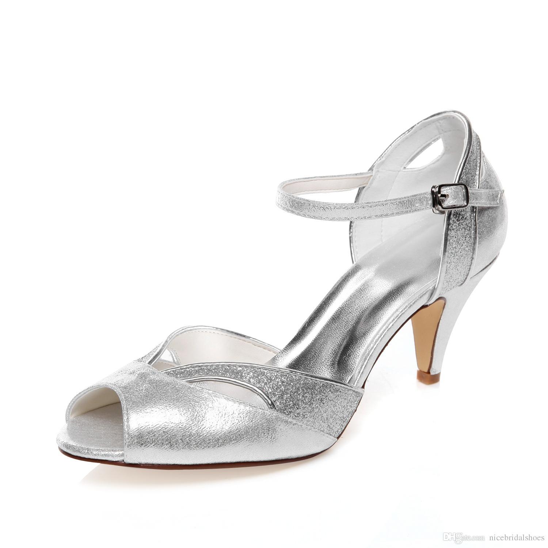 761a4aed Compre 6.8 Cm De Color Plateado Alto Zapatos De Fiesta De Diseño Especial  Zapatos De Novia Zapatos De Vestir De Boda Zapatos Hechos A Mano Zapatos De  Noche ...