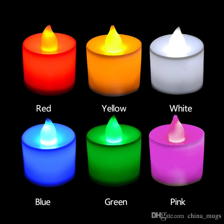 LED Tea Light Candles Light Lamp Realistic Battery-Powered Flameless Candles Candela Del Battery Included Free Shipping
