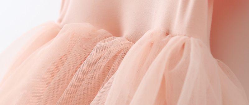EMS DHL Livraison gratuite petites filles Enfants Pink Party Princesse Tulle Dress Summer Occasion Dress Holiday wear pétales Party Dress