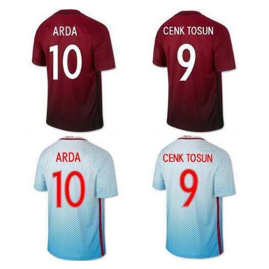 1fd6775e33f ... New Turkey soccer jersey 16 17 ARDA home away CENK TOSUN top quality  Turkey football shirt ...