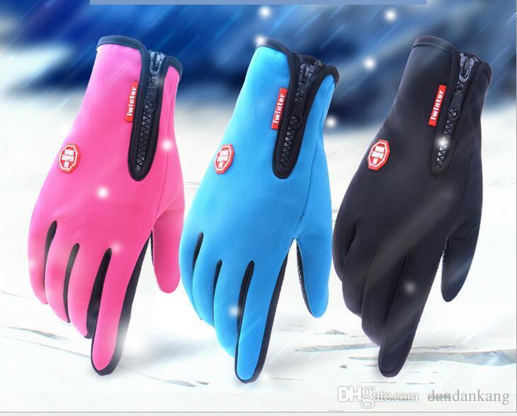 Windstopper Outdoor Sports Snowboard Skifahren Reiten Fahrrad Radfahren Handschuhe Winddicht Winter Handschuhe Thermische Warme Touchscreen Handschuhe