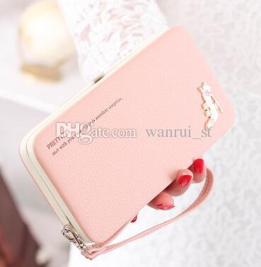 New Arrival New Fashion Lady Wallets Leather Credit Card Holder For Women Wallet Purse Purses Clutch Wallets Purse Bags Phone Box