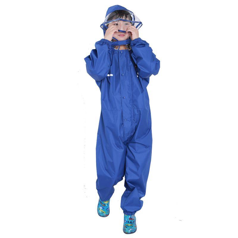 Felpa con cappuccio bambini Cartoon One Rainsuit Felpa con cappuccio bambini impermeabile con cappuccio Bambini Felpa con cappuccio bambini colorati Solido 2-14T
