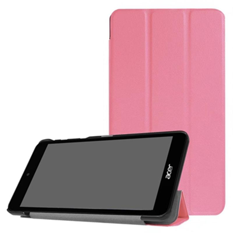 Tri-Fold Ultra Slim PU Leather Case Cover for Acer Iconia One 7 B1-790 7.0 inch Tablet + Stylus Pen as free gift