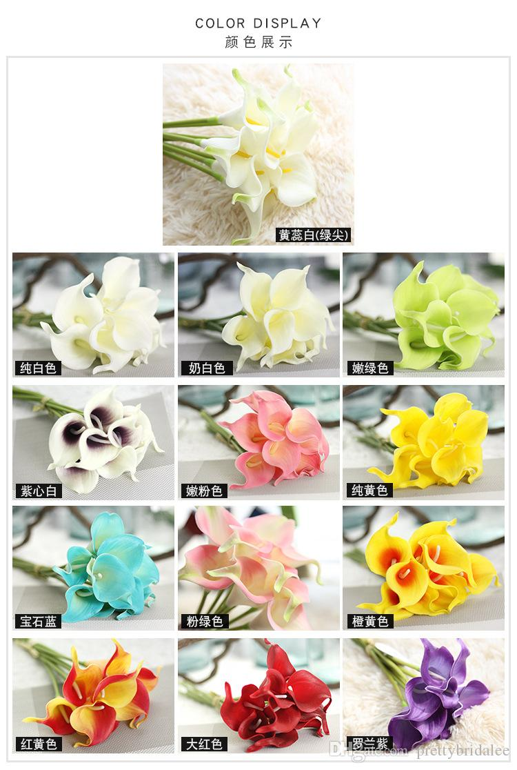 Cheap wholesale available calla lily flowers pu diy bridal bouquet cheap wholesale available calla lily flowers pu diy bridal bouquet home party festival decoration artificial flowers 34cm long wedding flower garland izmirmasajfo