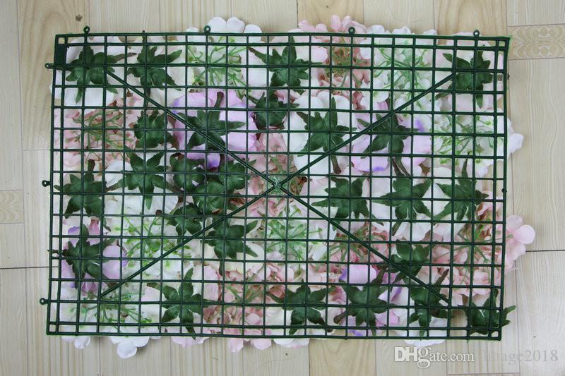 Blumen-Wandhochzeits-Hintergrundrasen / -säulenstraßen-Bleimarktdekoration des EMS-freien Verschiffen-heißen / künstliche silk rosafarbene