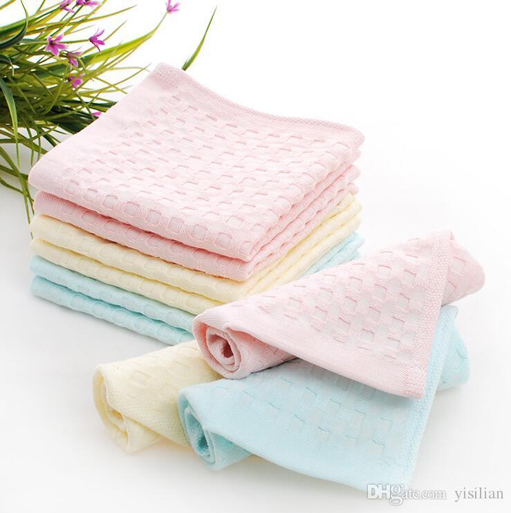 Miglior regalo Cotton 32 azioni pianura piccolo bambino piazza asciugandosi prodotti bambini asciugamano personalizzato l'ordine della miscela TL011 fazzoletto come le vostre esigenze
