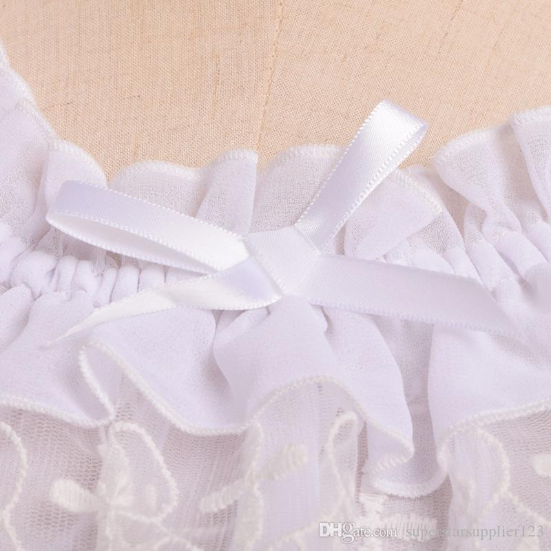 Lolita Women Lace Chiffon Blouse Short Puff Sleeve Frilly Shirt Tops High Quality Fast Shipment