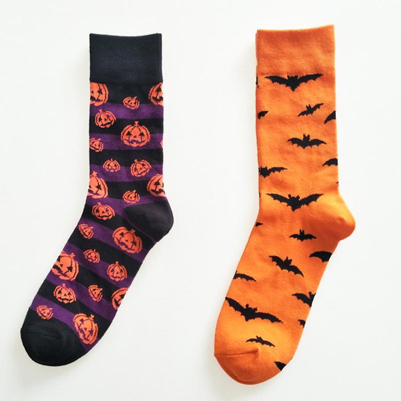 Nowy Halloween Nietoperze I Dyni Wzór Skarpetki Bawełniane Harajuku Styl Moda Wysokiej Jakości Party Cute Nolvety Cosplay Darmowa Wysyłka
