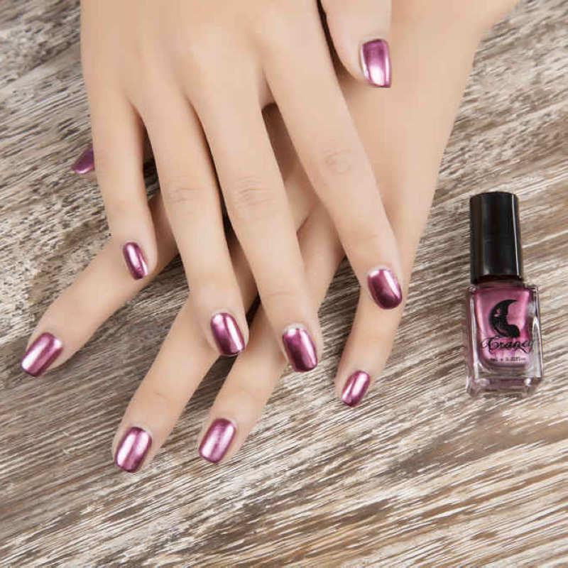 Wholesale 6ml Silver Mirror Effect Metal Nail Polish Varnish Top ...