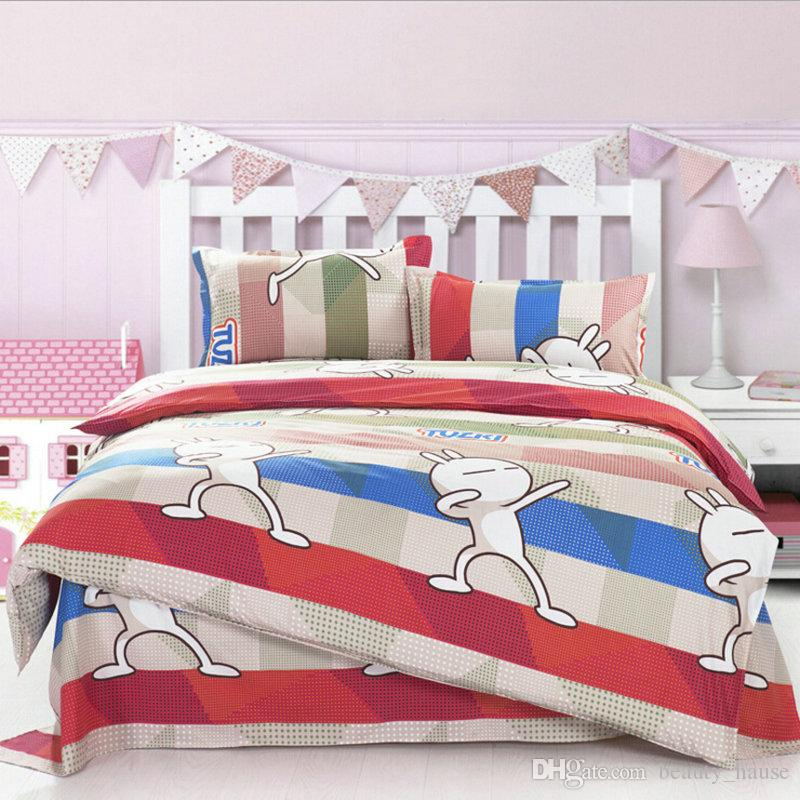 Novelty Rabbit Printing Bedding Set Fashion Bed Sheet Duvet Cover