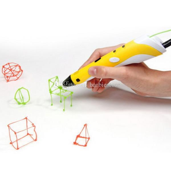 3D Druck Zeichnung Stift Handwerksmodelling Filament Arts LED Drucker Werkzeug 2nd Gen B00259