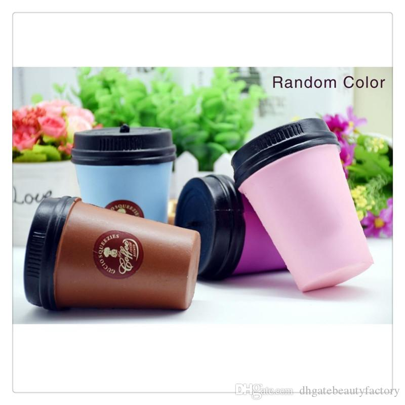 New Squishy Coffee Cup Squishies Slow Rising Jumbo Phone Strap Kawaii Squishies Pendant Stretchy Bread Cake Kids Fun Toy Christmas Gifts