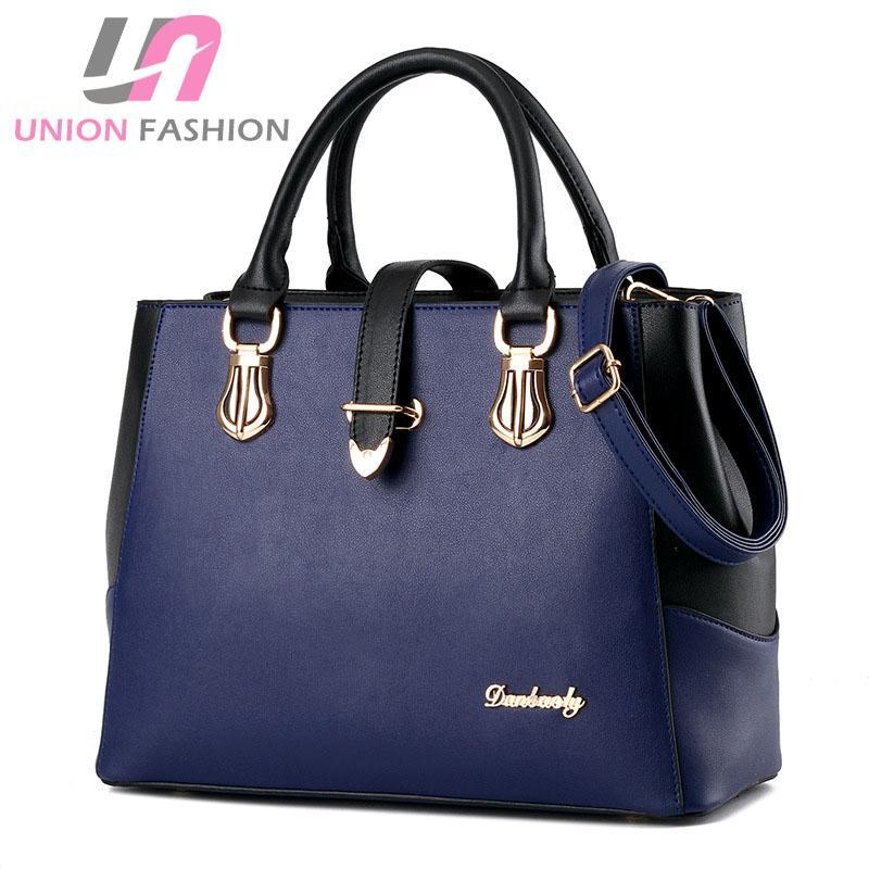 76856e73ee92 High Quality Women s Fashion Bags Pu Leather Shoulder Bag Messenger Bag OL  Style Tote Bags Leather Patchwork Elegant Bag Shoulder Bag Leather Handbag  Women ...