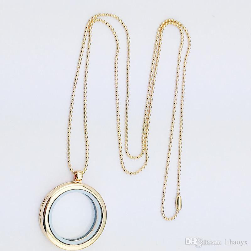 30mm medaglione galleggiante gioielli fai da te trasparenti cornici di vetro galleggiante fascino ciondoli pendenti ak029