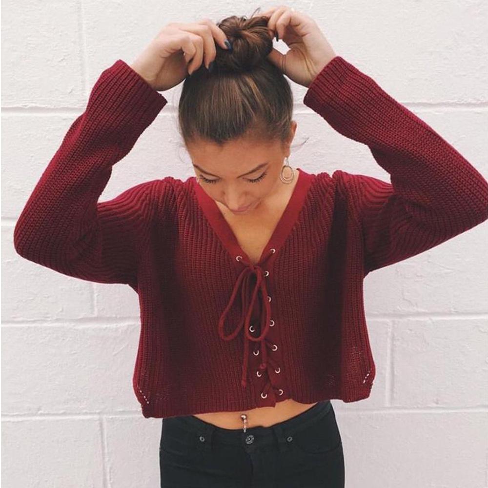 Nuova moda autunno inverno maglione donne fasciatura cintura allentato Tops Outers sexy ragazza femminile abbigliamento di grandi dimensioni