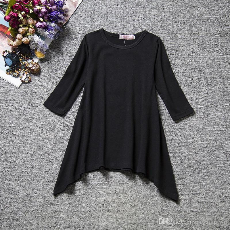 2016 spring autumn skirt T-shirt flower clothing long clothing girl dress cotton blends kids skirt leisure wear korea lolita style 800009