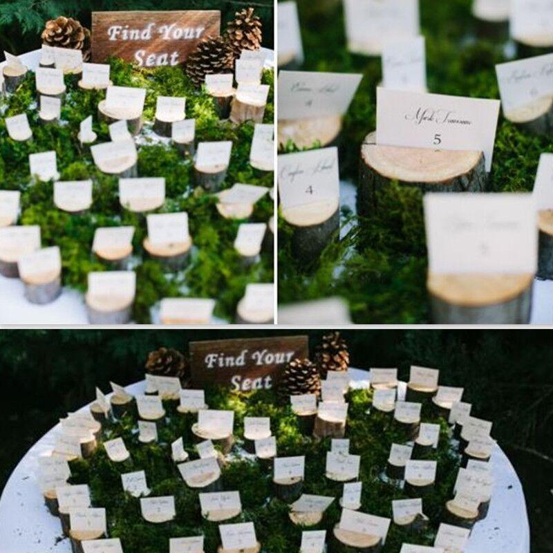 / 자연 나무 플레이스 홀더 홀더 좌석 폴더 소박한 사진 홀더 웨딩 장소 카드 테이블 번호 홀더 홈 데코 파티 테이블