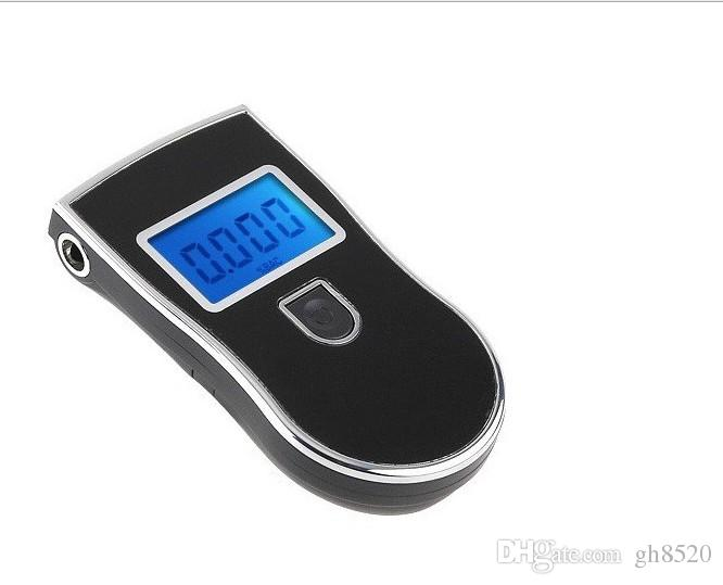 NEW Hot selling backlight Professional Police Digital LCD Breath Alcohol Tester Breathalyzer AT818 mouthpieces