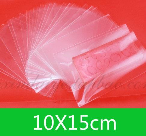 Nuevo OPP Open top Bag 10x15cm para venta al por menor o al por mayor. Bolsos transparentes de bricolaje / envío gratis