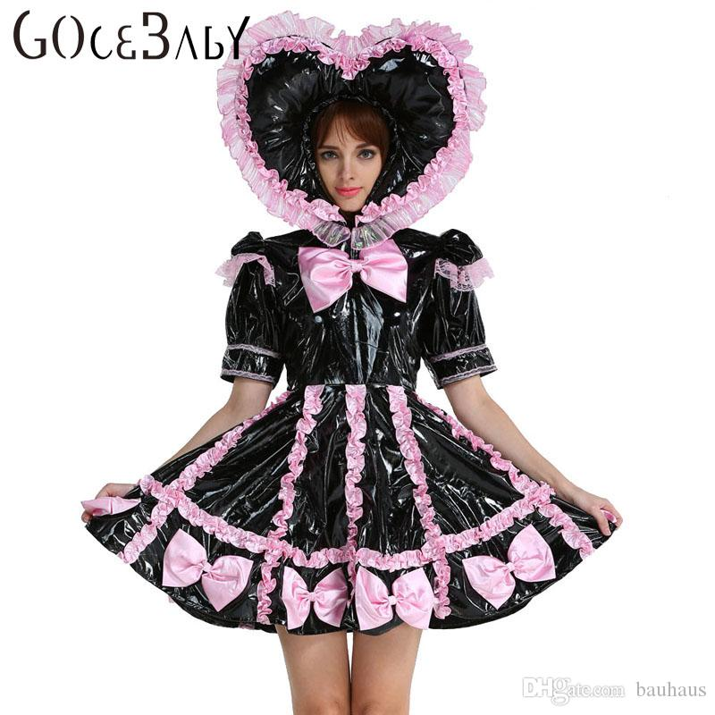 Custom Made Adult Baby Sissy Maid Lockable Pvc Sweet Heart Black Dress Uniform Crossdress Cosplay Costume Girl Group Halloween Costumes V&ire Halloween ...  sc 1 st  DHgate.com & Custom Made Adult Baby Sissy Maid Lockable Pvc Sweet Heart Black ...