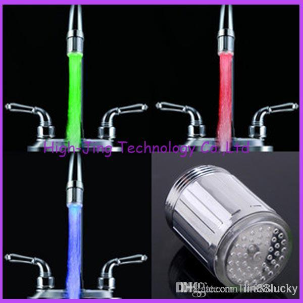 Fashion Water Glow LED Faucet Stream Light Temperature Sensor Safety ...