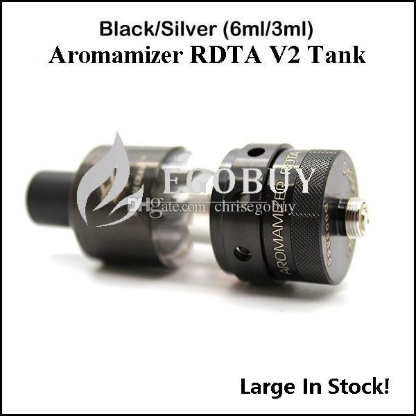 100%オリジナルスチームクレベアロママイザーRDTA IIタンクアトマイザーSC201 SSブラック2ポストビルトデッキベロシティスタイル3ml 6ml RDA OCCタンクV-RDA