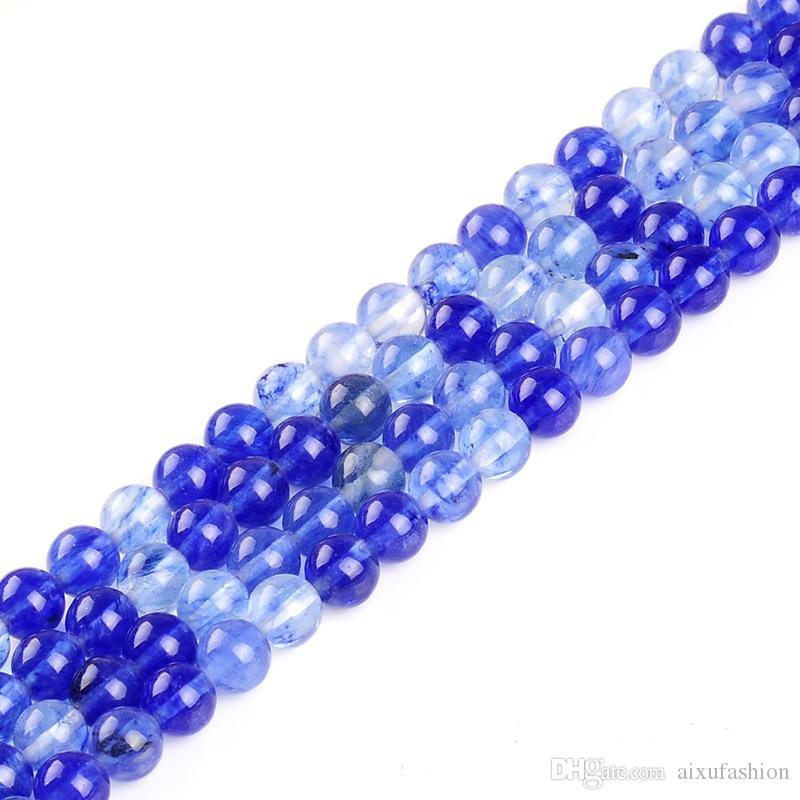 Natural Blue Watermelon Stone Beads Round Loose Beads For Jewelry Making 4mm 6mm 8mm 10mm Bracelet Necklace DIY Accessories