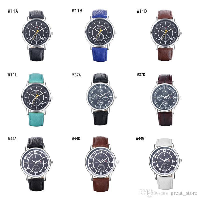 Orologi sportivi mensili di moda orologi potere riserva orologio GTWH8, orologi da polso al quarzo analogico-digitale orologi da polso 6 pezzi molto colore della miscela