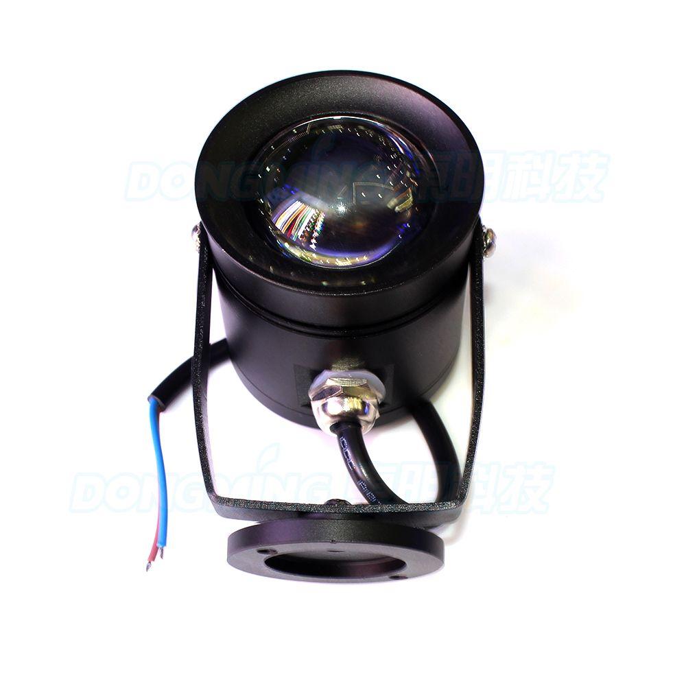 Couverture noire sous marine led marine blanc / blanc chaud DC12V 10W lampe subaquatique lentille convexe lampes piscine sous-marine