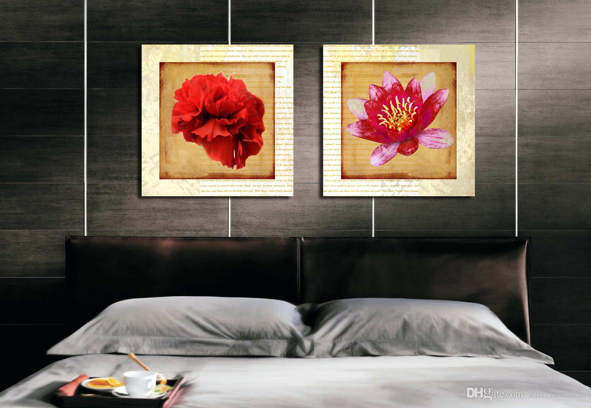 no frame Canvas Prints fish potted flower Calla Lily camera Photo bridge orchid art picture Home decoration