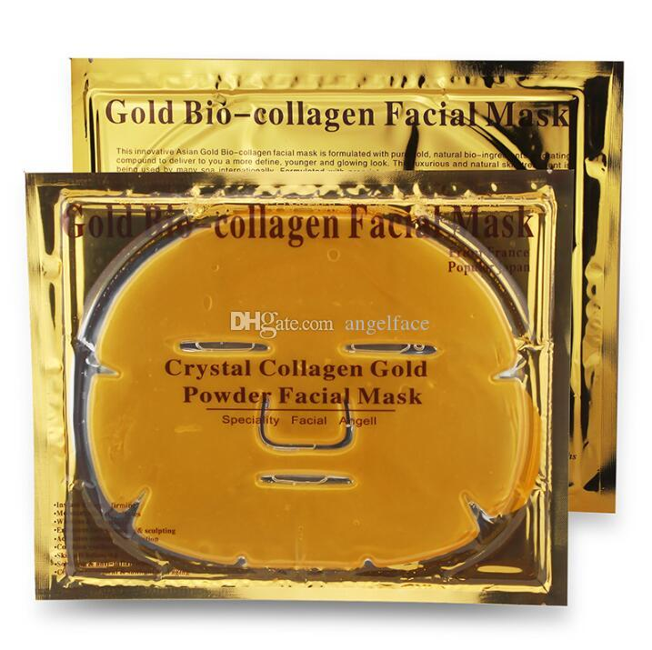 24k Gold Bio-Collagen Facial Mask Face Mask Crystal Gold Powder Collagen Facial Mask Moisturising Anti-aging Oil-control Masks & Peels
