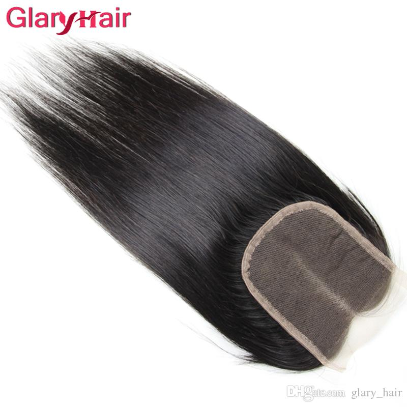 Nuovo arrivo non trasformati visone brasiliano capelli lisci vergini tesse chiusura 3 pacchi con chiusura di pizzo superiore remy capelli umani coda di cavallo all'ingrosso
