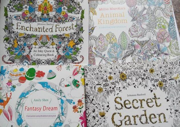 Secret Garden Coloring Books Animal Kingdom Adult Reducing Stress Drawing Book Diy 1071 Cartoon