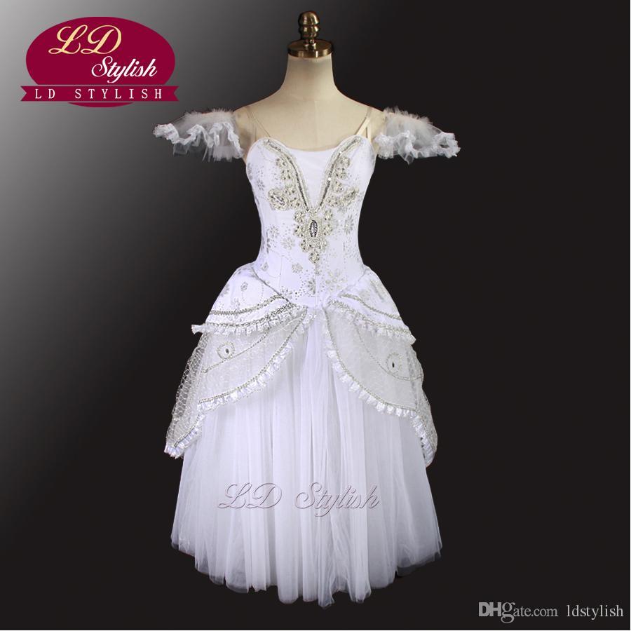Cinderella Gold Romantisches Ballett Tutu Kleid LD0008D Mädchen Ballett Tutu Kleid Weiß Romantische Tutu Kleid Frauen De Danse Kinder