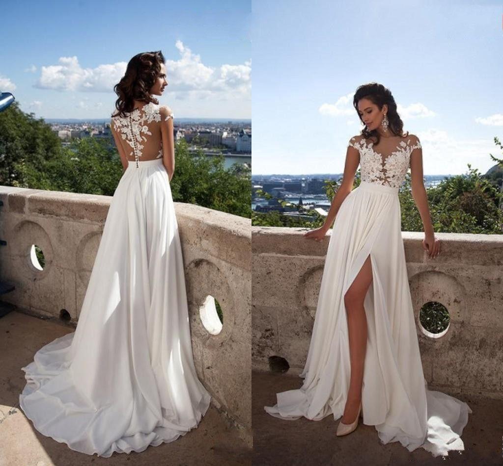 Bridal Gowns For A Beach Wedding: Discount Sexy Elegant Cheap Beach Wedding Dresses A Line