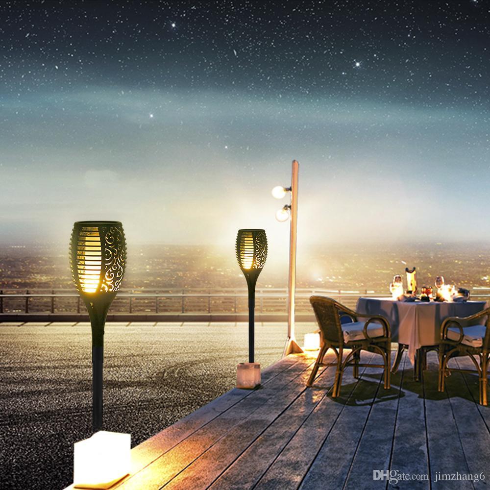 KYFL01-2,새로운 LED 태양 불꽃 깜박임 램프 토치 빛 깜박임 정원 경로 잔디 램프에 대 한 태양 전원이 방수 장식 램프